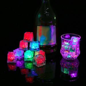 Love Heart Ice Block Led Lighting colorido Flash Ice Cube LED Light Luminous in Water Nightlight Nupcial Decor Dropshiping
