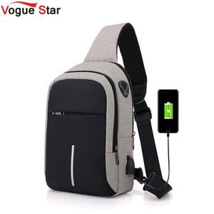 небольшой USB зарядка один сумка мужчины сумки мужской водонепроницаемый слинг груди сумка 2019 новый bagpack креста тела сумки L52