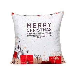 Nouvelle arrivée coreless taie d'oreiller Creative Noël coton et taie d'oreiller housse de coussin auto oreiller