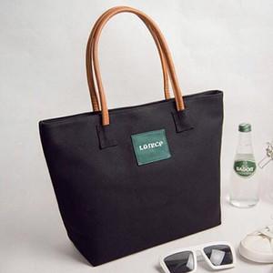 Iris du Japon et de la Corée Dark style taille moyenne de couleur grise sac en toile de femmes de mode matériel main