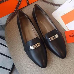Hot Sale-Top ballerines de qualité chaussures chaussures de luxe design doux Sole Pointu