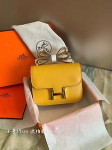 malhado New Constance Kelly Bacchus portátil a tiracolo clássico Designer Luxo Retro Popular Mulheres Aeromoça Âmbar tamanho amarelo: 19 centímetros