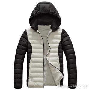 Mens Desigenr Casacos de Inverno Marca Impresso Jaquetas Esportivas 5 Cores Plus Size Com Capuz Jaqueta Chapéu Destacável Designs L-6XL