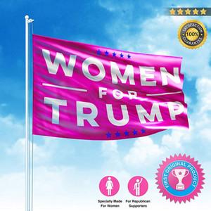 90 * 150CM Donald Trump Flag für Frauen Polyester Banner USA 2020 Präsidentschaftswahl Flagge Mädchen-Frauen-rote Fahnen Anpassbare VT0673