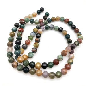 Bead accessories Natural stone loose beads diy jewelry accessories colored chalcedony round beads jade beads semi-finished products