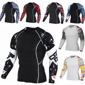 Мужские волчьи майки с длинным рукавом компрессионные рубашки 3d Teen T Shirt Fitness Men Lycra MMA Crossfit футболки колготки бренд мужской одежды