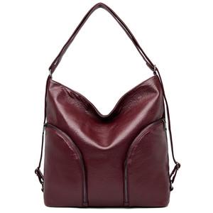 LONOOLISA weiche Leder-Damen-Taschen-Beutel-Handtaschen-Qualitäts-Schulter-Beutel-Frauen-große Taschen 2020