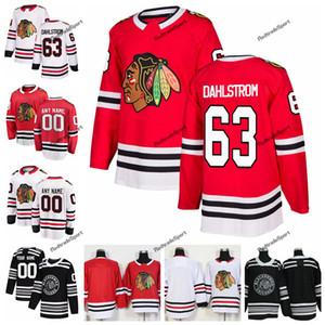 Chandails de hockey Blackhawks de Chicago Classic 2019 de Carl Dahlstrom Chicago Nouveau noir # 63 chandails cousus Carl Dahlstrom Personnaliser Nom