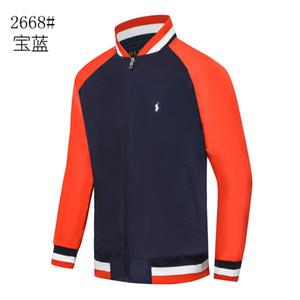 EUA marca Jacket Polo Ralph Mens Pony Padrão Vermelho Outono Inverno Casual Jacket Golf mens vestuário bombardeiro à prova de vento jaqueta warm