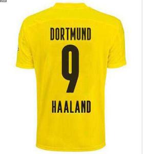 Dort#9 HAALAND #10 HAZARD home Soccer Jerseys 2020 #11 REUS #7 SANCHO Soccer jersey Shirts 20-21 short sleeve Bundesliga Football Uniforms