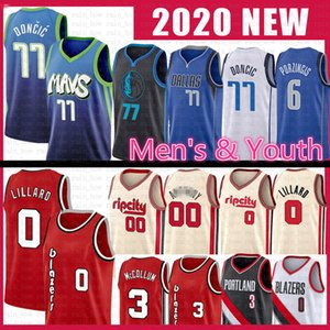 Luka Damian 0 77 Lillard Doncic Basketbol Jersey Kristaps CJ Carmelo Porzingis Anthony McCollum DallasMavericks0 Blazer Maverick