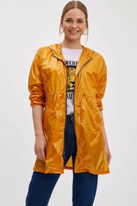 DeFacto New Woman Moda Pure Ladies Color Raincoat Casual Waterproof Jackets Feminino Pockets Casacos - L1666AZ19SP