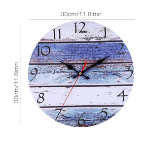 Vintage Wooden Round Wall Clock Rustic Country Tuscan Style Wooden Decorative Round Wall Clock For Home Office