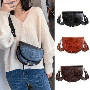 H40 Women Crossbody Bag Fashion Alligator Semicircle Saddle Bags Crocodile Shoulder Bags For Female Handbags Designer Bolsas