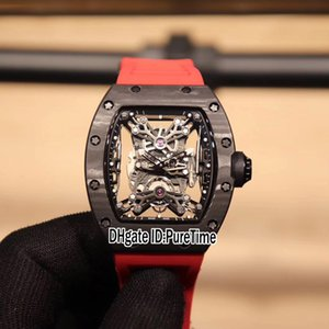 Скелет RM27-01 PureTime Black Watches Edition Miyota Автоматический Limited E73B2 США Углеродное волокно Новый набор красных резиновых мужских NTPT Watch Watch KJHIQ
