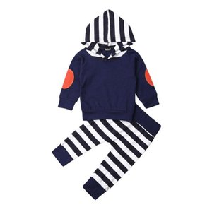 Newborn Toddler Infant Baby Boy Girl Cotton Autumn Long Sleeve Hooded Tops+Pants Outfits 2Pcs Clothes Set Costume Clothing 0-24M