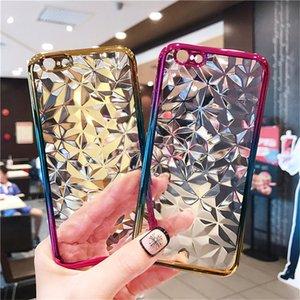 Роскошный 3D Чехол с ромбовидным узором для iPhone X 8 7 Plus 6 6S XS MAX XR Цвет градиента Мягкая задняя крышка телефона ТПУ