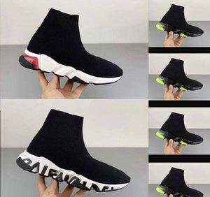 Balenciaga Sock shoes Luxury Brand simple chaussures de vitesse pour menTrainer baskets classiques Speed Race Sock Entraîneur Runners noir Chaussures homme et femme Chaussures