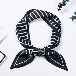 Ins Spring and Autumn New Small Scarf Female Korean Students Pointed Scarf Double-Sided All-match Ribbon Fashion Simple Hair Band