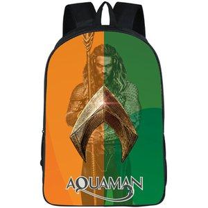 Cine al aire libre mochila mochila bolsa de la escuela de impresión Deporte Aquaman mochila Arthur Curry mochila mochila Jason Momoa