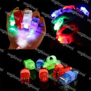 Finger anel luzes led lâmpada dedo fulgor laser fita festa flash criança brinquedos 4 cores piscando luz brinquedos presentes de casamento dhl