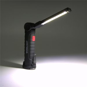 5 Working Modes Portable COB Torch USB Rechargeable LED Work Light Magnetic COB Tactical With Hanging Hook