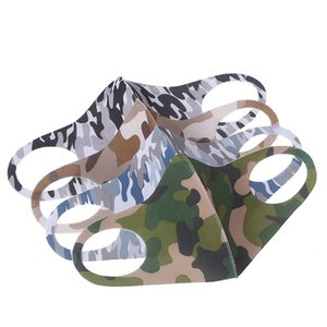 Fashion Camouflage Party Masks Outdoor Ice Silk 3D Anti-PM2.5 Mouth Cover Pollution Protect Fabric Breathable Dustproof Cycling Masks Wash
