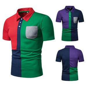 2019 Luxury Europe Paris Patchwork Men Tshirt Fashion Mens Designer T Shirt Casual Men Clothes Medusa Tee Luxury Polo J190701