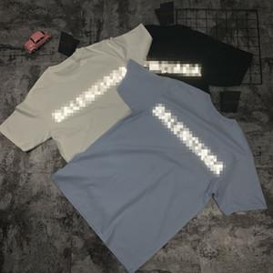Licht Printed Designer Herren Damen Shirts Summer Street Fashion Luxury Shirt Männer Frauen kurze Hülsen-Marke Top Tees Herren Street 2042909H