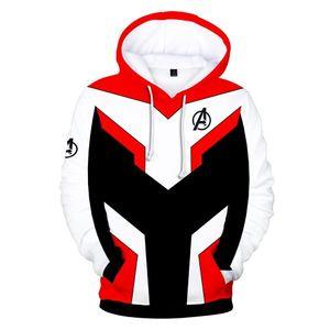 Avengers Endgame 4 Kuantum Realm 3D Baskı Hoodies Erkekler Spor Kazak Tişörtü Fermuar Ceket Cosplay Kostüm Hip Hop Streetwear