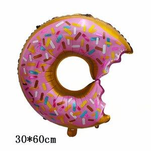 1pc Donuts Lutscher Pizza Eiscreme-Hotdog-Geburtstags-Party Hochzeit Ballons Dekoration Sprinkle Donut Foil Helium-Luftballons