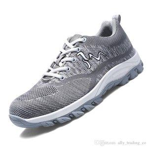 2020 Высокое качество стали Toe безопасности Обувь Мужская работа спецобуви Unisex дышащий Air Mesh Спецобувь Плюс Размер 35-46 Резина