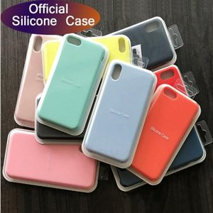 caso originale logo ufficiale per iPhone X 7 8 più 6 6s Cover per Apple iPhone 11 custodia in silicone Pro Max Xs XR liquido con la scatola al minuto