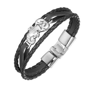 2020 Новая мода Кожаный браслет Многослойный кожаный браслет ретро Лаки Scorpion ювелирные изделия изысканный подарок Pulseira
