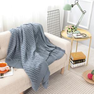 LYNGY coton tricoté Couverture Sofa Cobertor Printemps / Automne Hiver Crochet fil pour bébés adultes Lit Kitted Lancers Coureurs de lit