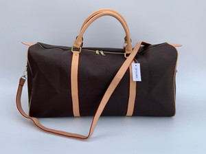 54cm bolsas de lona de gran capacidad de la Europa clásica de diseño de la belleza de la venta caliente hombres de alta calidad del hombro equipaje de mano con la bolsa de polvo de bloqueo