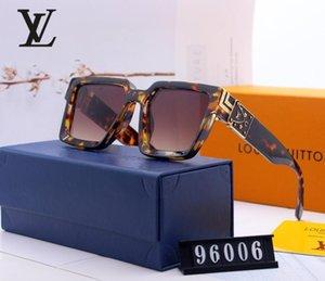 2020 Fashion round sunglasses sunglasses designer brand black metal frame black 52mm glass lenses
