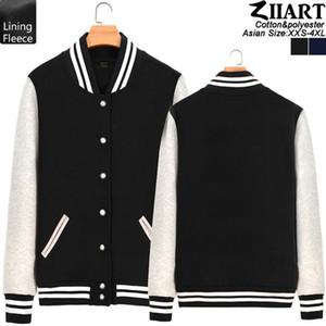 2 colori Mu Ban Coppia abbigliamento uomo Ragazzi Full Zip Fleece Autunno Inverno baseball giacche ZIIART