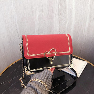 2020 Fashion chain bag handbag new gold chain fashion casual Plain ladies handbag shoulder bag Messenger bag haiyunda 6