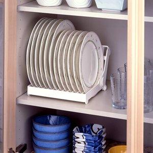 scolapiatti essiccazione organizzatore scolapiatti accessori di alta qualità pieghevoli piatto di plastica del supporto di memorizzazione da cucina, trasporto libero. Y200429