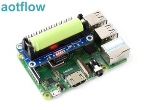 Waveshare Li-ion Battery HAT for Raspberry Pi 5V Regulated Output Bi-directional Quick Charge integrates SW6106 power bank chip