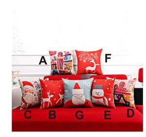 Babelin 45cm * 45cm del amortiguador de Navidad regalos de Navidad Cubierta Ambiente Plaza funda de almohada del sofá Inicio de Navidad