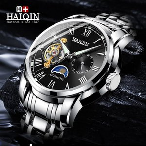 Luminous Haiqin Mens Relógios Top Marca Men Relógio Mecânico Automático Moda Masculino Relógio Relógio Masculino 2019