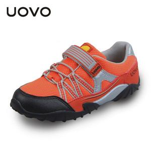 UOVO Bahar Sonbahar Çocuk Ayakkabıları Spor Ayakkabıları Erkek Koşu Ayakkabıları Kanca Ve Döngü Yürüyor Boy Nefes Rahat Sneakers 26 # -35 #