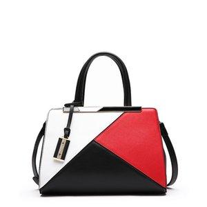 Yeni Deri Çanta Deri Omuz Çapraz Çanta Çanta Renk Geometrik Mozaik Büyük Kapasiteli Küçük Kare Çanta bayanlar çanta