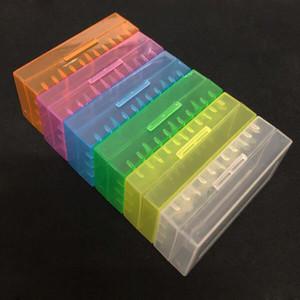 Tragbare kunststoff batteriefach box sicherheit halter lagerbehälter pack batterien für 2 * 18650 oder 4 * 18350 lithium-ionen-akku e zig