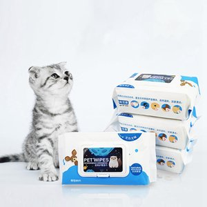 80PCS Pet Cat Eye Wet Wipes Cats Cleaning wipes Dedicated Wet Tissue Napkin Dog Hygienic Towelette Pets Eye Supplies New