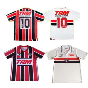 1993 1994 Sao paulo retro soccer jerseys home away red black white 93 94 camisetas de fútbol Classic Vintage football shirts top quality