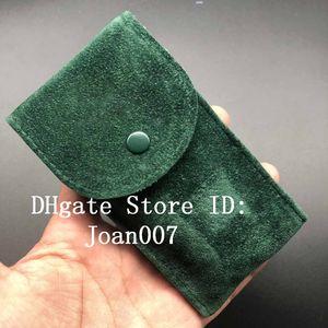 Лучшее качество Гладкая фланелевая зеленая сумка для часов Защитный чехол для часов Rolex Карманный подарок Подарочная зеленая сумка для хранения