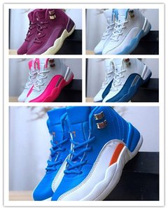 2018 12 Kinder Schuhe Kinder Basketballschuhe Hohe Qualität Sportschuhe Jugend Jungen Mädchen Turnschuhe für 12s Größe US11C-3Y EU 28-35